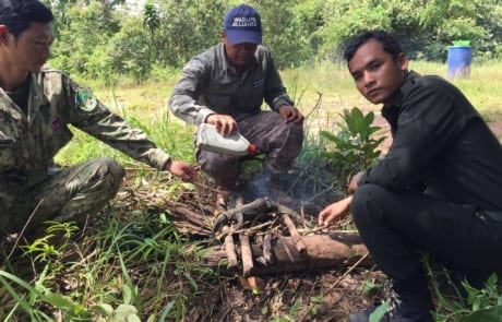 anti-poaching GPDS Anti-Poaching Unit fast intervention monitor lizard burned 460x295