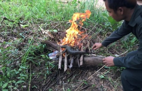 anti-poaching GPDS Anti-Poaching Unit fast intervention monitor lizard burned on site 460x295