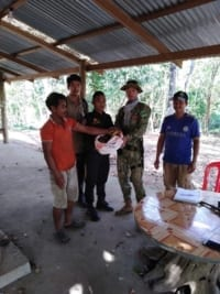 huge python Huge Python rescued from villager house Chi Phat villager and Wildlfie Alliance rangers 200x267