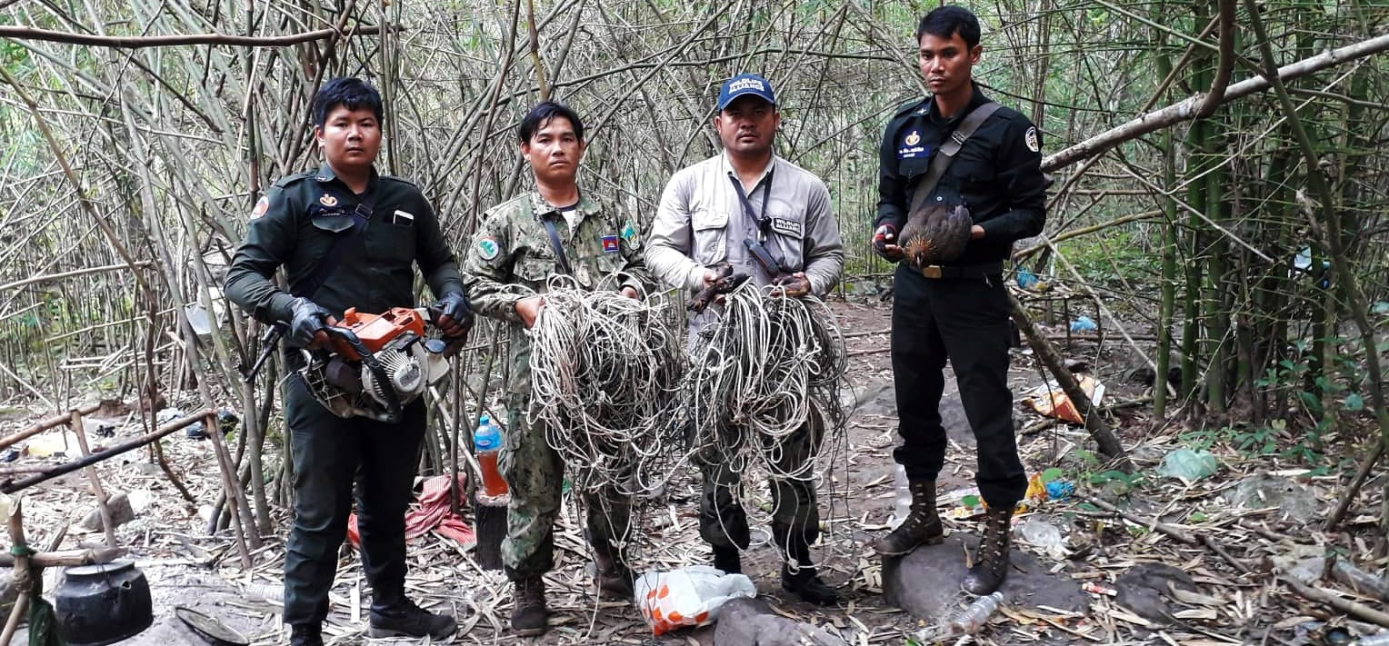 anti-poaching Anti-Poaching – the silent war animal traps illegal chainsaws and animal parts found in hunter camp 1