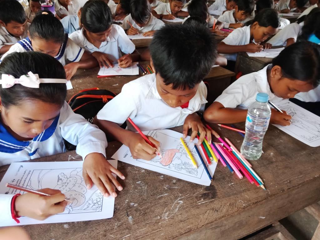 Environment Education activities – November 2018 Cambodia Environmental Education Tang Por School
