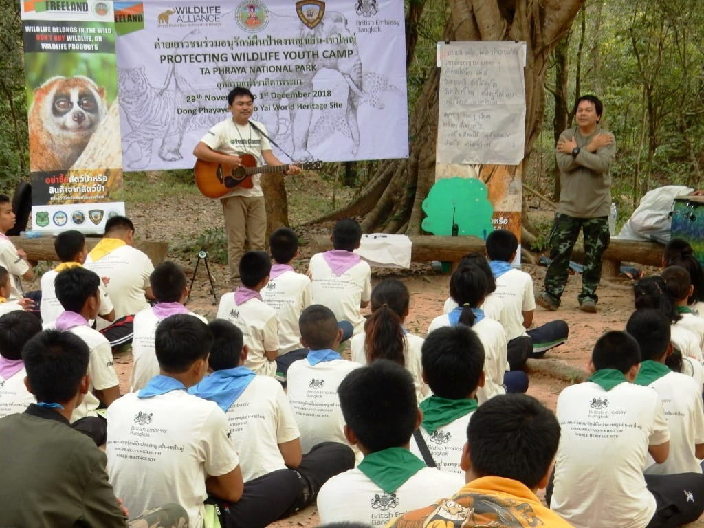 Environment Education activities – November 2018 Protecting Wildlife Youth Camp Cambodia