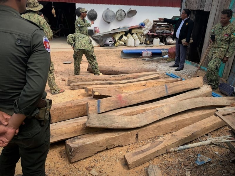 luxury timber Luxury timber dealer sentenced to prison Illegal Timber trader arrested Cambodia 800x600