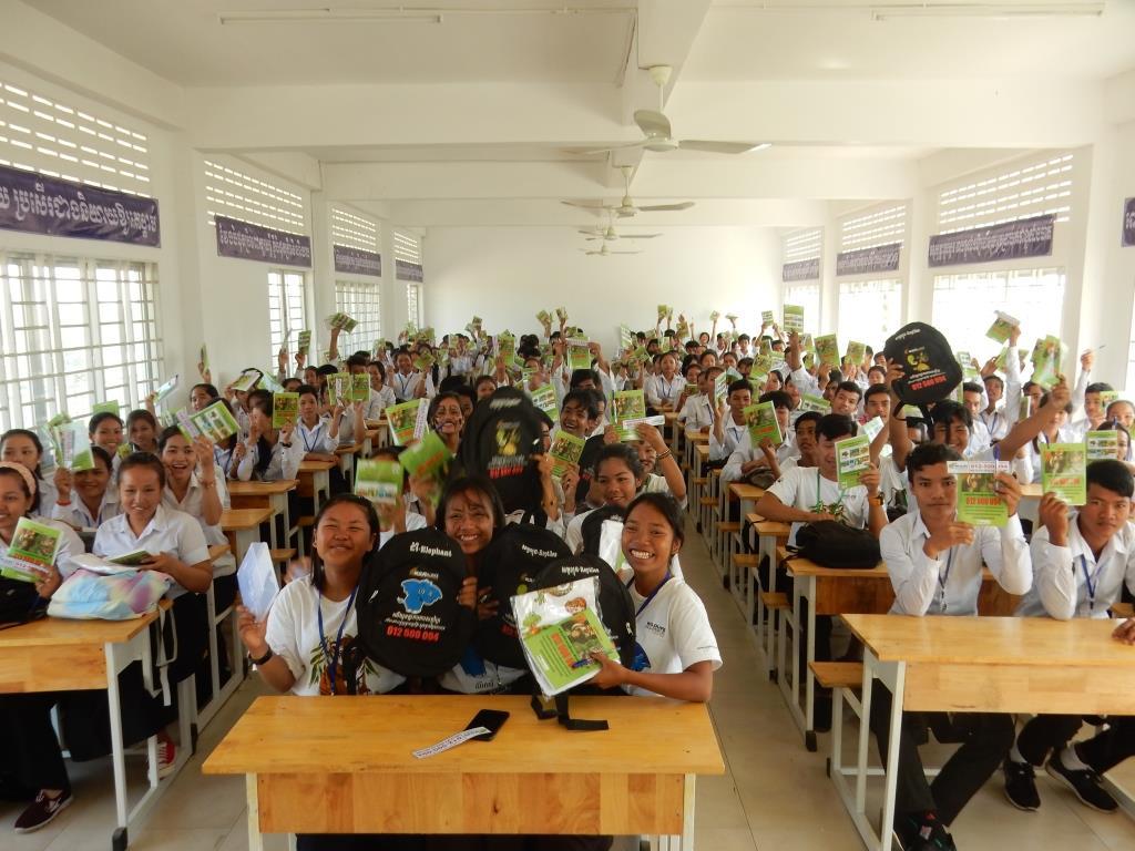 environment education Environment Education Project Activities Kouprey Express wildlife outreach Kampong Chnang 2