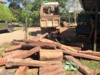 precious timber A truck carrying illegal precious timber seized Precious timber confiscated  200x150