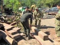 precious timber A truck carrying illegal precious timber seized luxury timber Cambodia 200x150