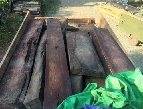 A truck carrying illegal precious timber seized
