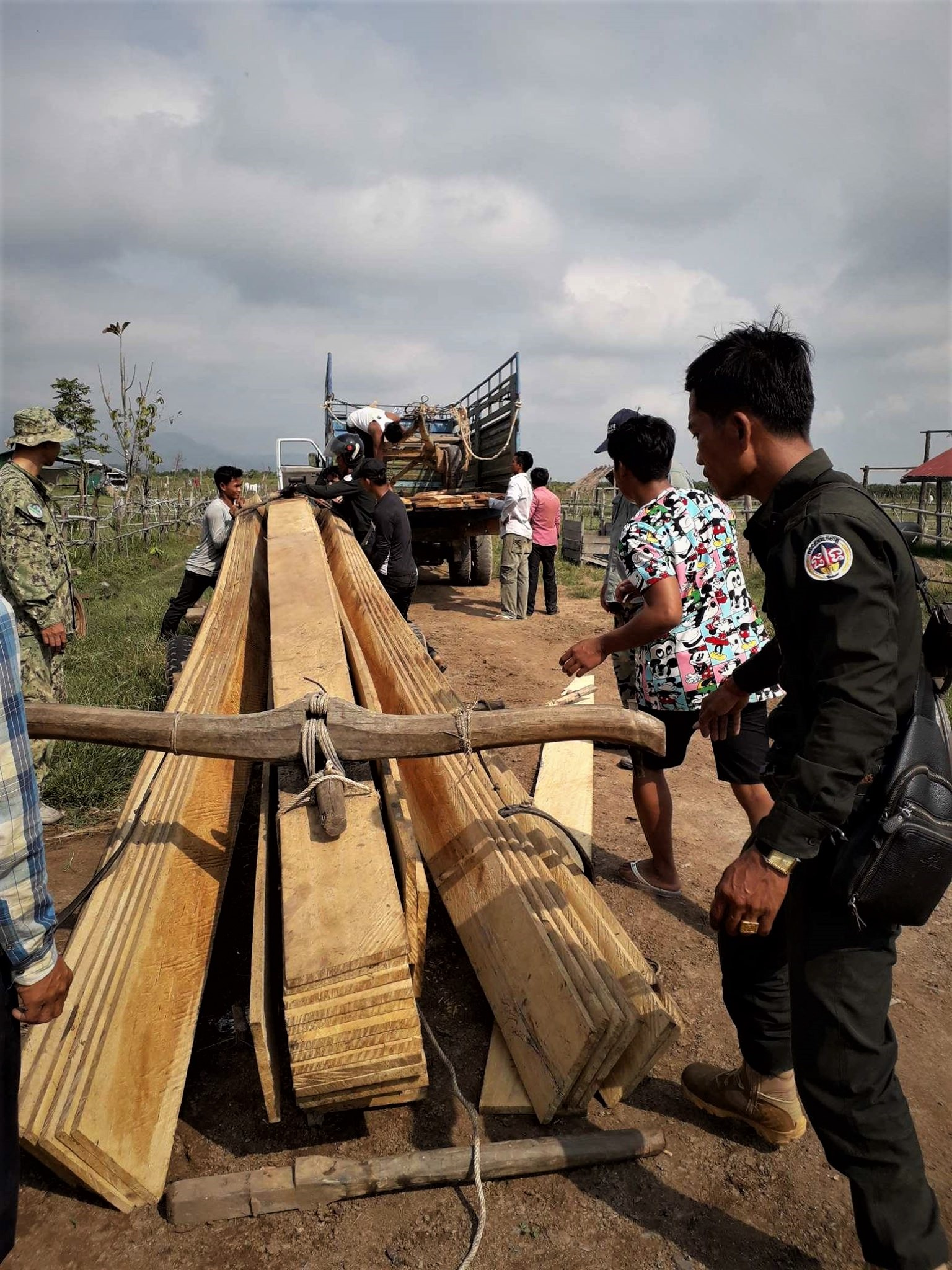 construction timber Construction Timber seized Construction Timber seized in raids in Cambodia 6