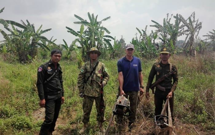 sponsor the gibbon station Sponsor the Gibbon Station Illegal Chainsaws collected by Wildlfie Alliance rangers 700x441