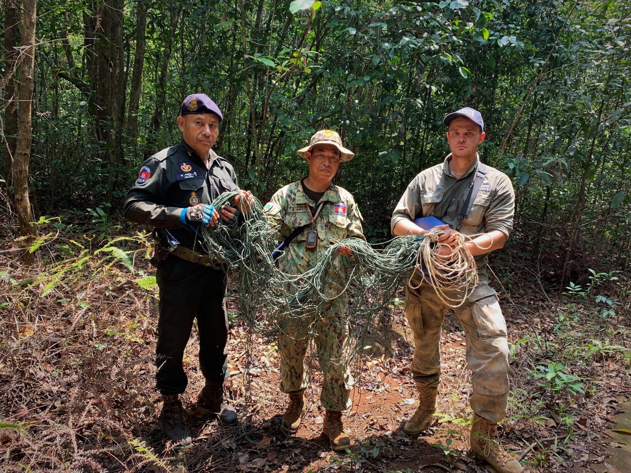 snares Snares are lethal weapons that trap and kill animals Wildlife Alliance rangers remouving wild animal traps
