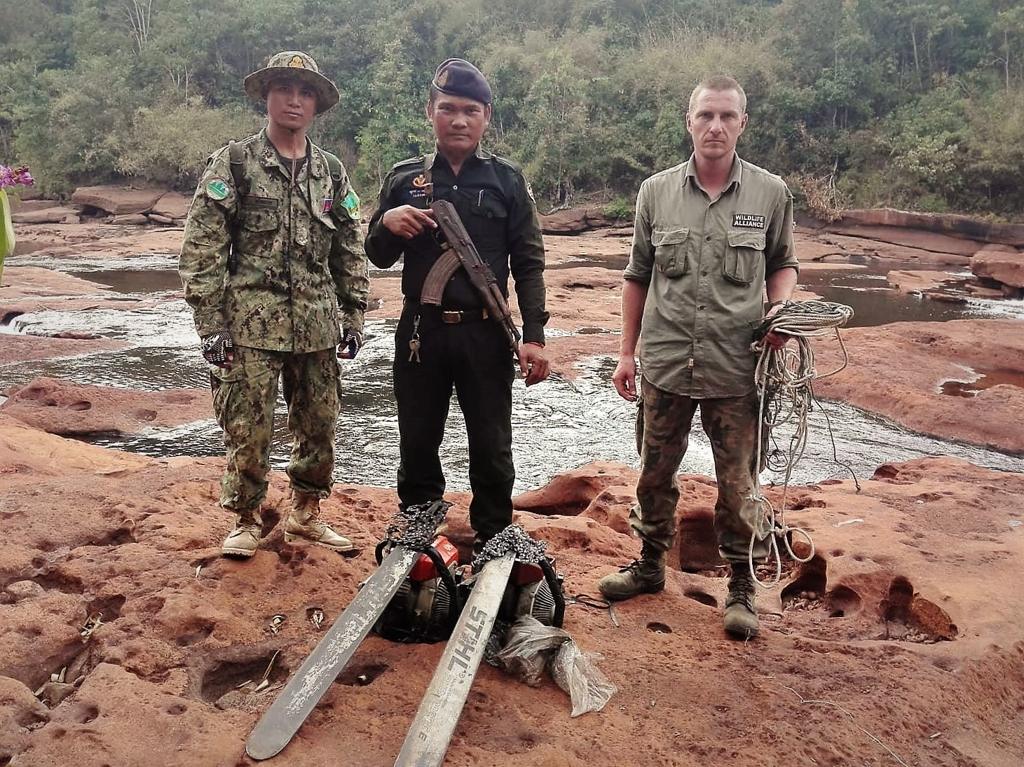 gibbon station long patrol Gibbon Station rangers' deep wilderness patrol illegal chainsaws in Cambodia